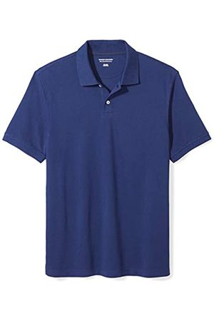Amazon Essentials Slim-fit Cotton Pique Polo Shirt (Navy)