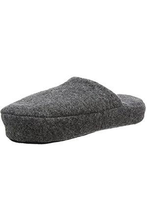 WOOLSIES Men's Yosa Natural Wool Mule Open Back Slippers, (Graphite )