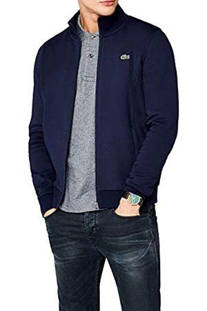 Lacoste Men's Zip Cardigan Long Sleeve Sweatshirt, (Marine)