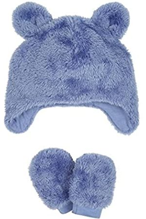 Mothercare Fluffy Trapper Hat And Mittens Set