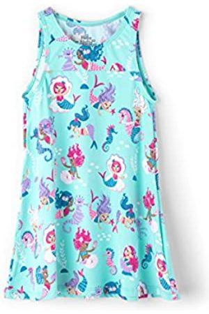Hatley Girl's Swim Dress Cover-Up Swimsuit, (Underwater Kingdom)
