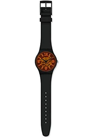 Swatch Mens Analogue Quartz Watch with Silicone Strap SUOB164