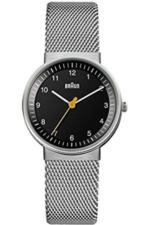 von Braun Women's Three Hand Movement Quartz Watch with Dial and Stainless Steel Mesh Bracelet BN0031BKSLMHG