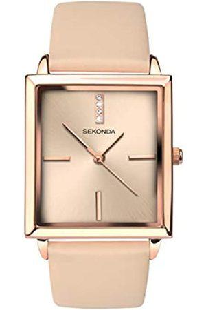 Sekonda Womens Analogue Classic Quartz Watch with Leather Strap 2555.27
