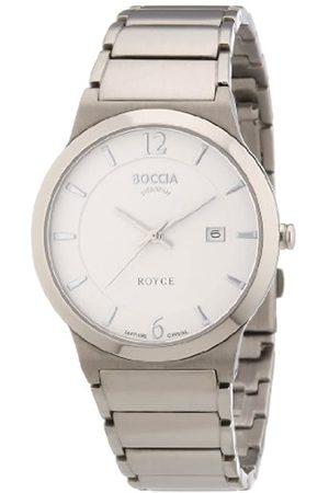 Boccia Men's Quartz Watch Superslim 3565-01 with Metal Strap