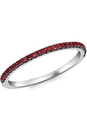 Carissima Gold Women's 9 ct Ruby Band Ring