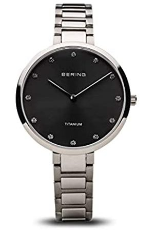 BERING Womens Analogue Quartz Watch with Titanium Strap 11334-772
