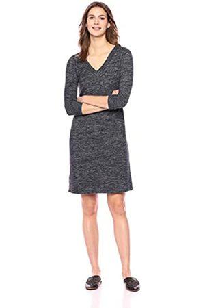 Daily Ritual Women's Cozy Knit Half-Sleeve V-Neck Dress