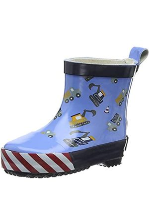Playshoes Unisex Kid's Wellies Rain Boot Building Site Wellington Rubber