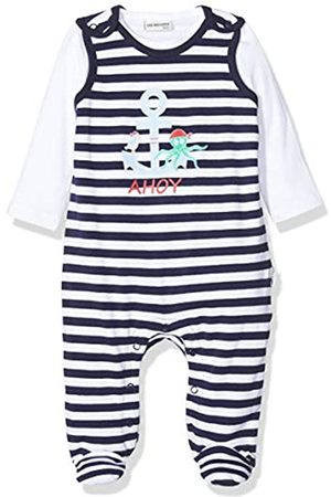 Salt & Pepper Salt and Pepper Baby Boys' Gestreift mit Anker Druck Footies