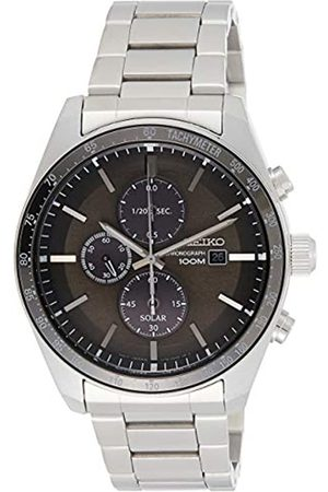 Seiko Mens Chronograph Solar Powered Watch with Stainless Steel Strap SSC715P1
