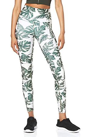 AURIQUE Amazon Brand - Women's High Waisted Printed Sports Leggings, 14