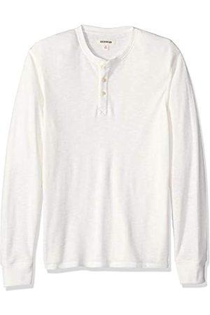 Goodthreads Men's Long-sleeve Slub Thermal Henley Shirt, (ivory)