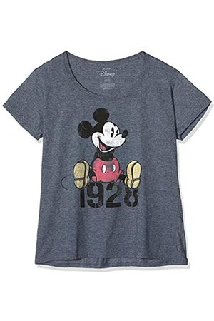 Disney Women's Mickey Year T-Shirt, Grey (Dark Heather Dkh)