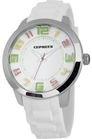 CEPHEUS Women's Quartz Watch with Dial Analogue Display and Silicone Strap CP604-186