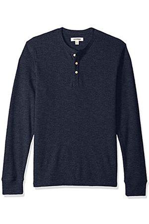 Goodthreads Men's Long-sleeve Slub Thermal Henley Shirt, (navy)