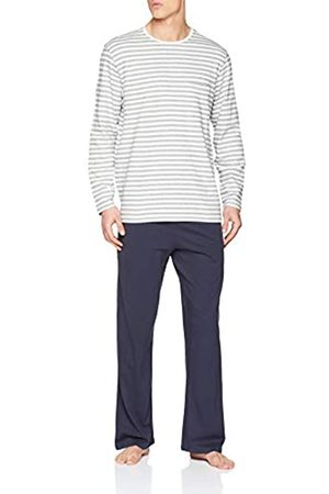 Seidensticker Men's Sj Jacquard Anzug Lang Pyjama Set, ( 102)