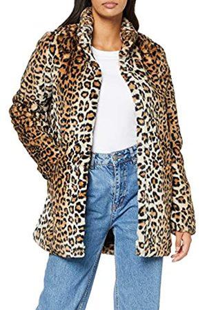 ONLY Women's Onlvida Leo Faux Fur Coat Cc OTW