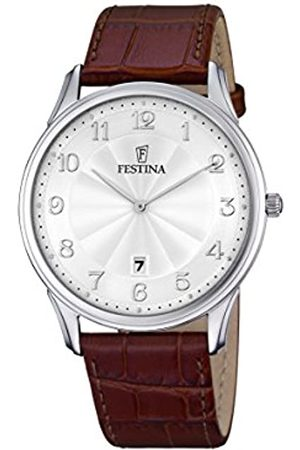Festina CLASSIC Men's Quartz Watch with Dial Analogue Display and Leather Strap F6851/1