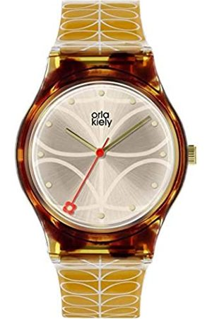 Orla Kiely Unisex Adult Analogue Classic Quartz Watch with Leather Strap OK2222