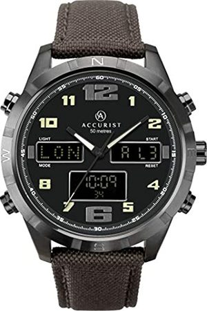 Accurist Men's Analogue-Digital Japanese Quartz Watch with Nylon Strap 7232