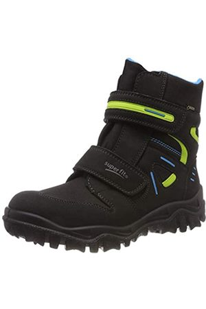 Superfit Boys' Husky Snow Boots, (Schwarz/Blau 01)