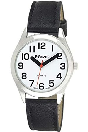 Ravel Unisex Super Bold Sight Aid Watch with Big Numbers - / Tone/White Dial