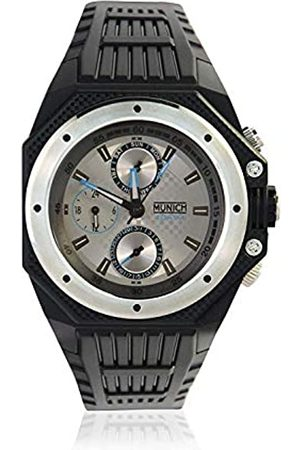 Munich Unisex Adult Analogue Quartz Watch with Rubber Strap MU+115.1E