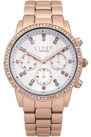Lipsy London Women's Quartz Watch with Dial Analogue Display and Rose Stainless Steel Bracelet LP240