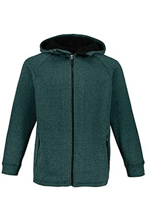 JP 1880 Men's Big & Tall Knitted Fleece Hooded Jacket Pine XXXXX-Large 723298 45-5XL