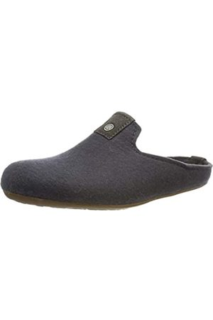 Haflinger Unisex Adults' Lykke Open Back Slippers, (Asphalt 58)