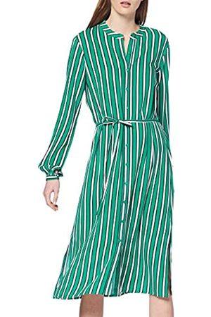 Vila Women's Vilinetta Stripie L/s Dress, (Pepper Stripes: Navy Blazer + Cloud Dancer)