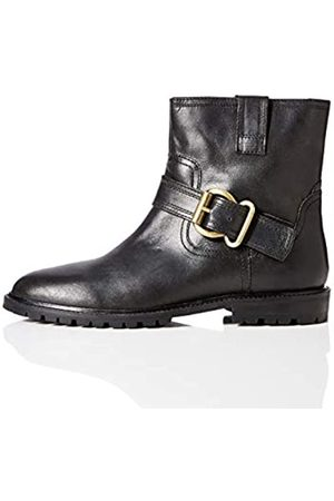 find. Amazon Brand - Pull On Leather Buckle Biker Ankle Boots, )