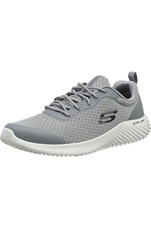 Skechers Men's Bounder Trainers, (Gray Mesh/Synthetic/Trim Gry)