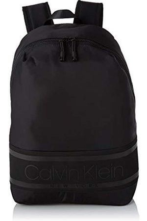 Calvin Klein Striped Logo Round Backpack, Men's (Blackwhite )