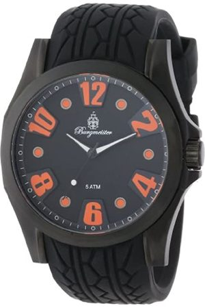 Burgmeister Men's Quartz Watch with Dial Analogue Display and Silicone Strap BM606-622B