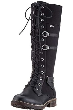 Rieker Women's Herbst/Winter High Boots, (Schwarz/Schwarz 00)