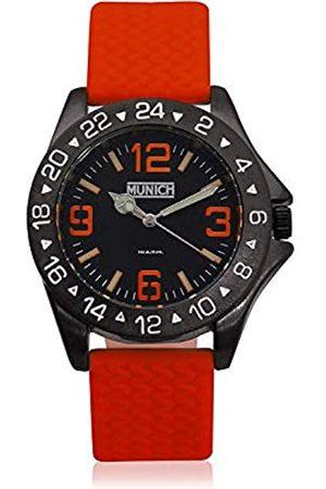 Munich Unisex Adult Analogue Quartz Watch with Rubber Strap MU+120.4A