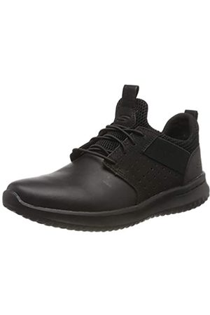 Skechers Men's DELSON AXTON Trainers, ( Leather BBK)