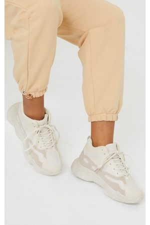 PRETTYLITTLETHING Sand High Ankle Chunky Trainers
