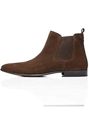 FIND Amazon Brand - Men's Chelsea Boots, (Chocolate)