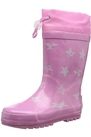 Playshoes Unisex Kid's Rain Wellies Stars Wellington Rubber Boots, (rosa 14)