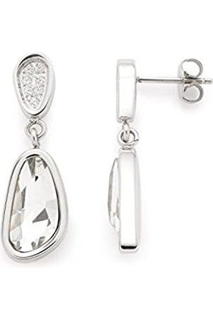 Leonardo JEWELS BY LEONARDO women earrings Cinetico stainless steel/ colored glass zirconia transparent polish facet glitter 016335
