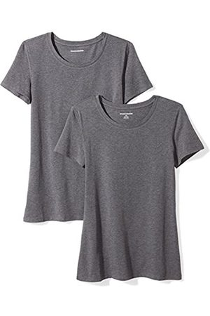 Amazon 2-pack Short-sleeve Crewneck Solid T-shirt (Charcoal Heather)