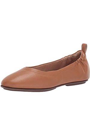 Fitflop Women's Allegro Closed Toe Ballet Flats, (Hazelnut 740)