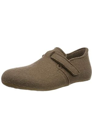 Haflinger Unisex Adults' Everest Focus Open Back Slippers, (Taupe 280)