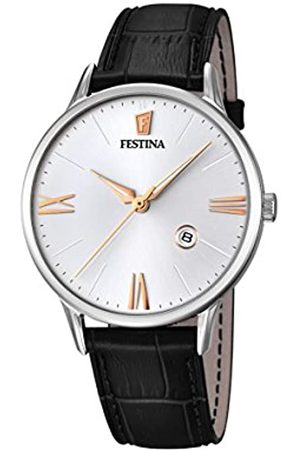 Festina Men's Quartz Watch with Dial Analogue Display and Leather Strap F16824/2