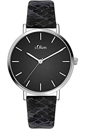 s.Oliver Womens Analogue Quartz Watch with Leather Strap SO-3848-LQ