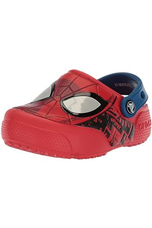 Crocs Boys' FunLab Spiderman Lights Clog Kids, (Flame)