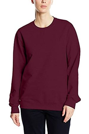 Trigema Women's Damen Sweat-Shirt Sweatshirt, -Rot (Sangria 89)